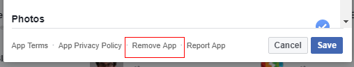 Facebook app delete2 - Who has access to the information in your Facebook profile?