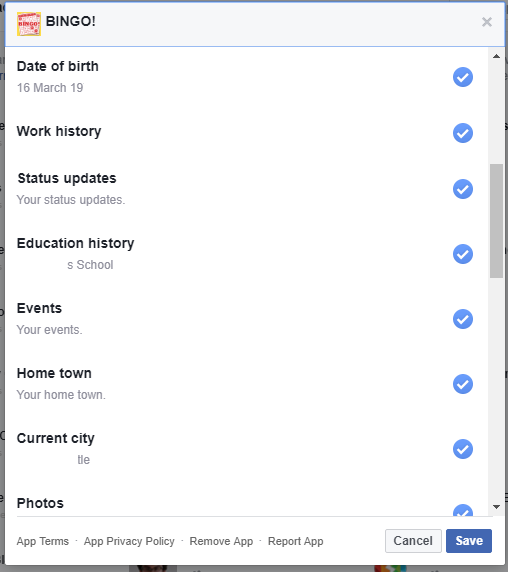 Facebook bingo1 - Who has access to the information in your Facebook profile?