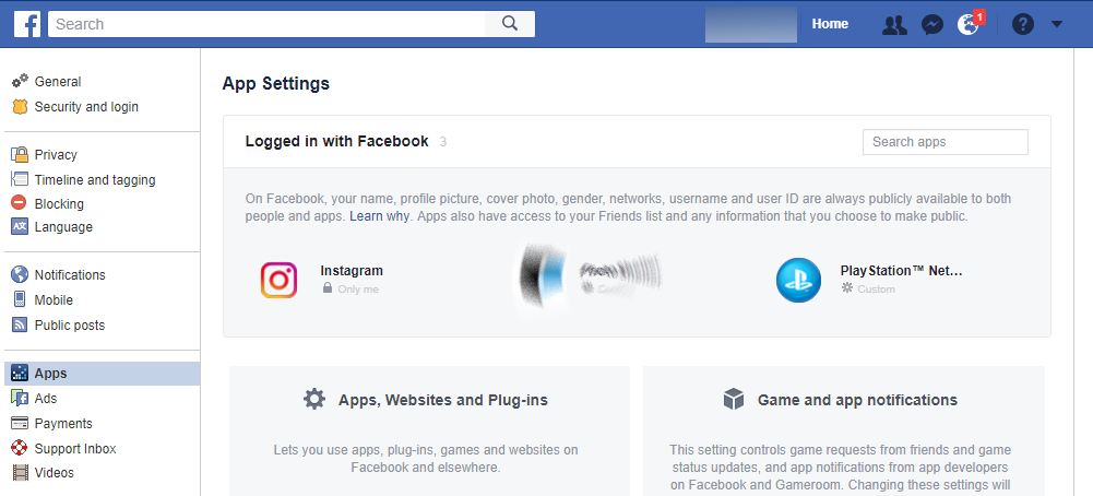 Facebook settings apps1 - Who has access to the information in your Facebook profile?